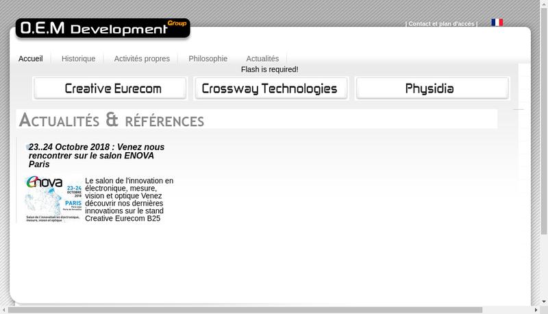Capture d'écran du site de Oem Development
