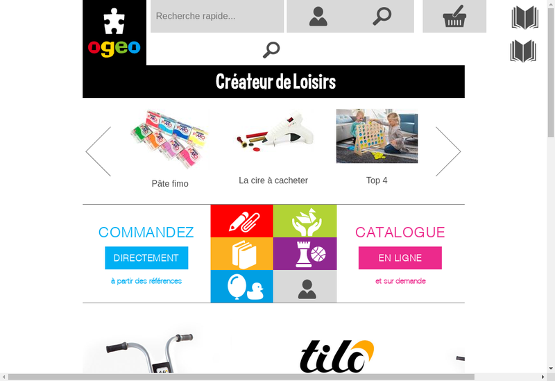 Capture d'écran du site de OGEO