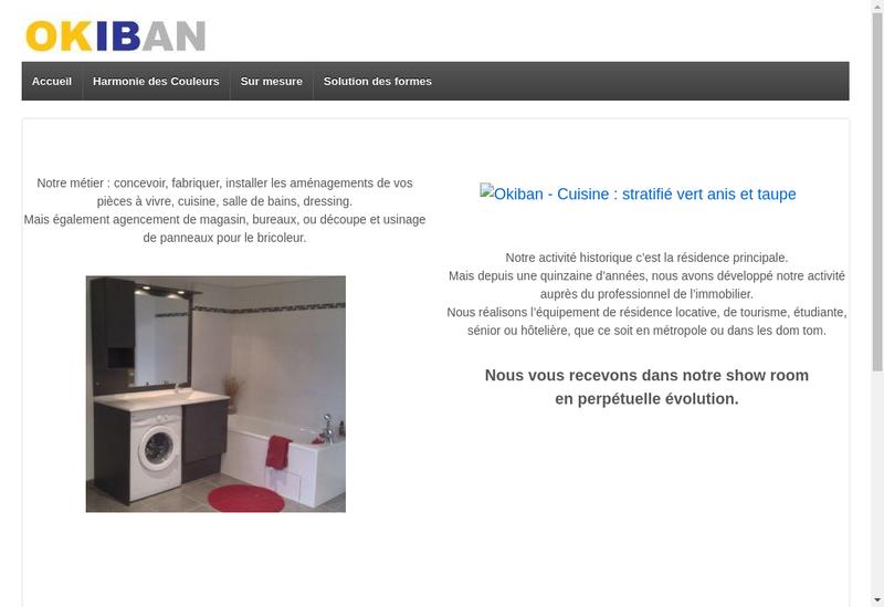 Capture d'écran du site de Arlie Cuisines et Salles de Bains