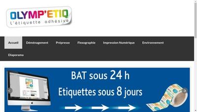 Site internet de Olymp Etiq