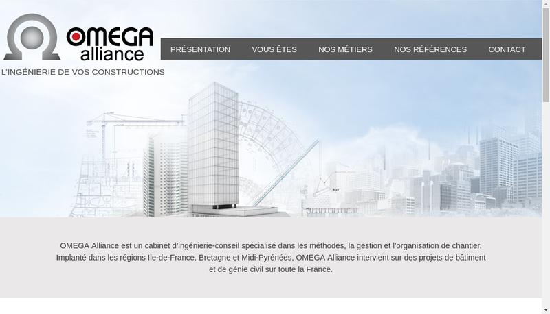 Capture d'écran du site de Omega Alliance