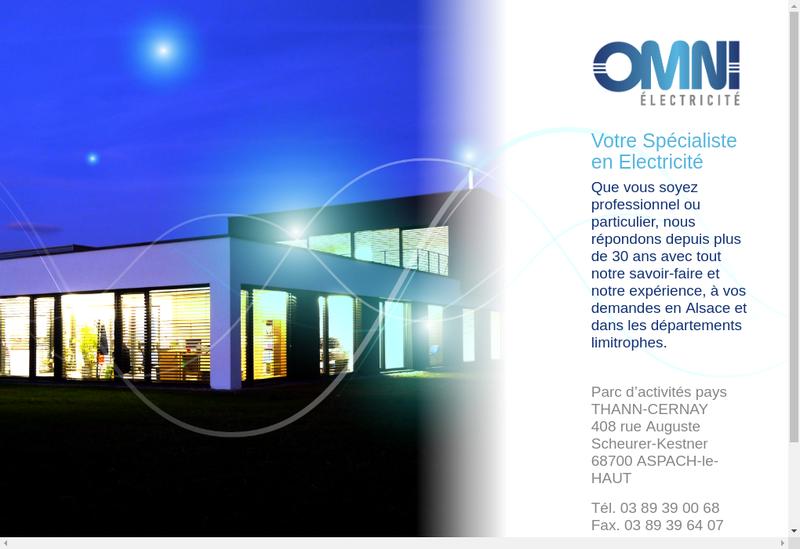 Capture d'écran du site de Omni Electricite