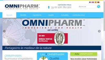 Site internet de Omnipharm Lbn Laboratoire