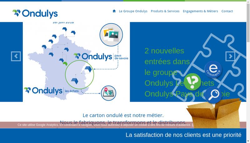 Capture d'écran du site de Ondulys Tailleur