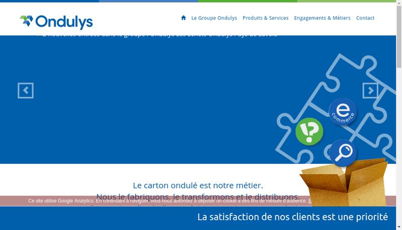 Capture d'écran du site de Ondulys Industrie