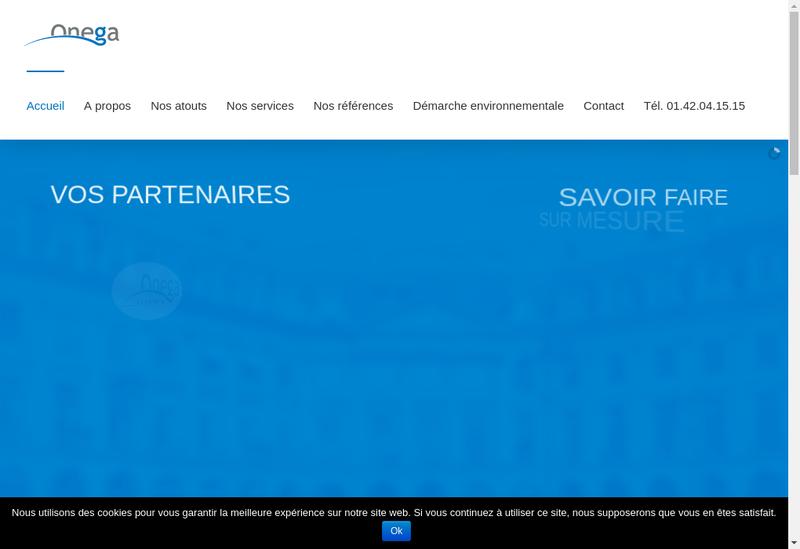 Capture d'écran du site de Onega