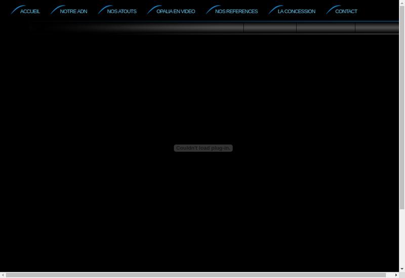 Capture d'écran du site de Opalia 2
