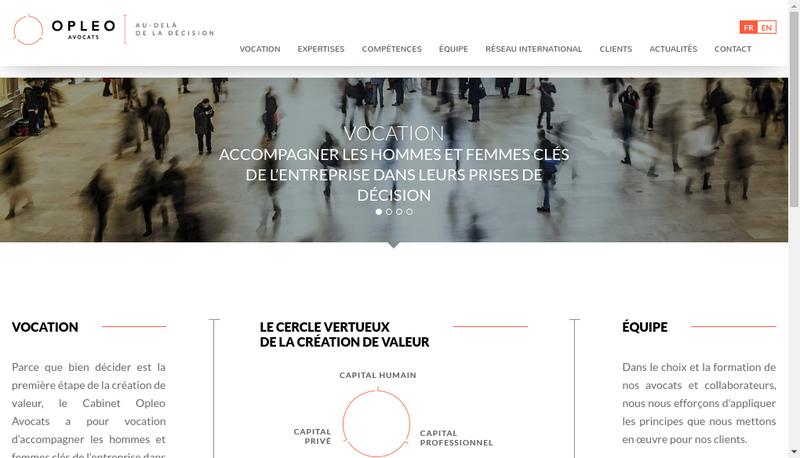 Capture d'écran du site de Opleo Avocats