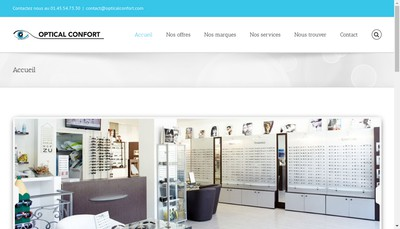 Site internet de Optical Confort