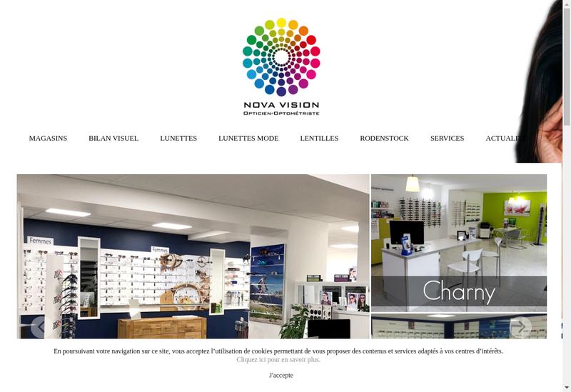 Capture d'écran du site de Nova Vision