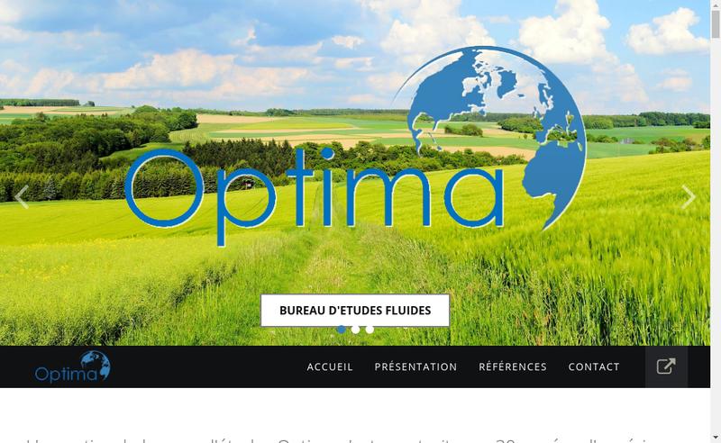 Capture d'écran du site de Optima