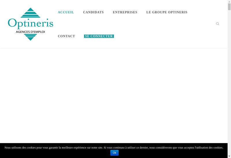 Capture d'écran du site de Optineris Melun