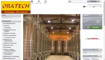 Capture d'écran du site de SAS Oratech