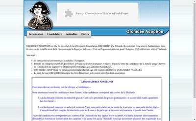 Site internet de Association Orchidee Adoption