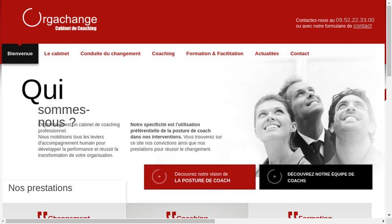 Capture d'écran du site de Orgachange
