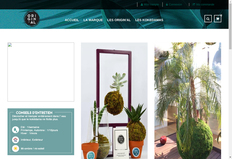 Capture d'écran du site de Kris Jardinage