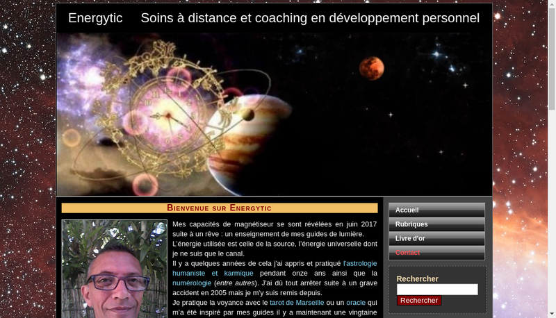 Capture d'écran du site de Philippe Orsoni
