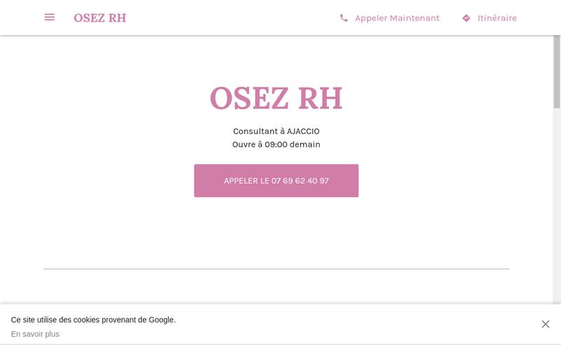Capture d'écran du site de MASSET Christelle
