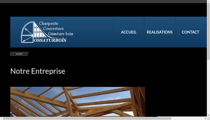 Capture d'écran du site de Ossaturbois