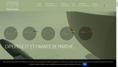 Capture d'écran du site de Ossia Conseil