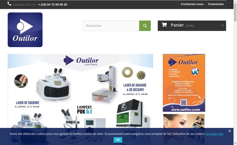 Capture d'écran du site de Outilor