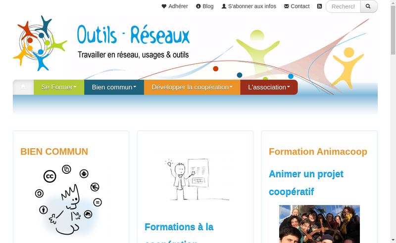 Capture d'écran du site de Outils Reseaux