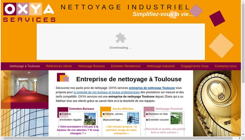Capture d'écran du site de Oxya Services