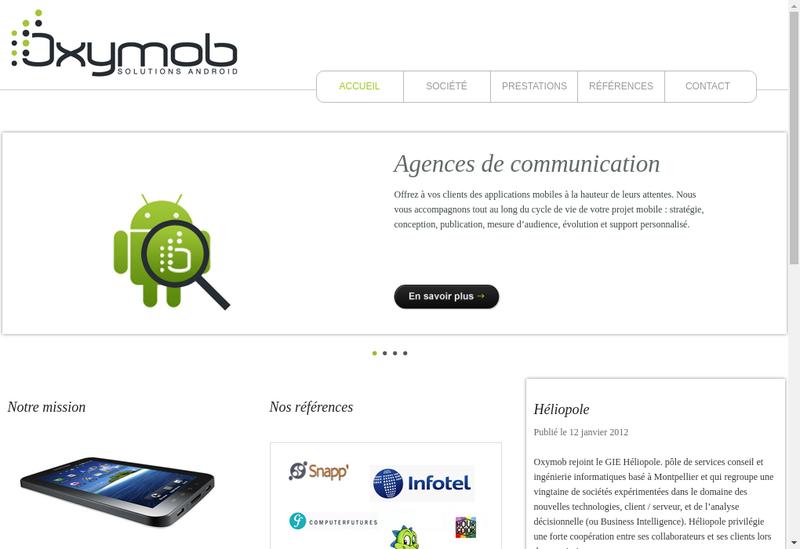 Capture d'écran du site de Oxymob