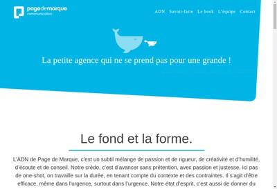 Site internet de Page de Marque