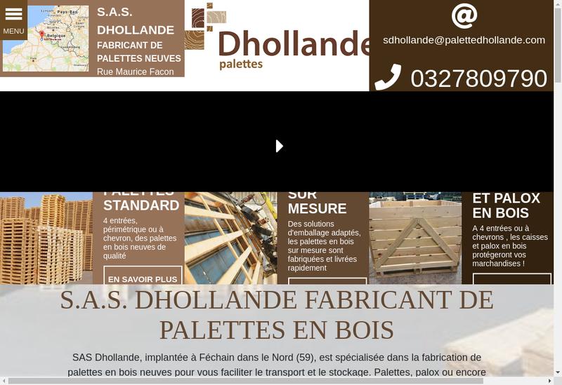 Capture d'écran du site de Palette Dhollande