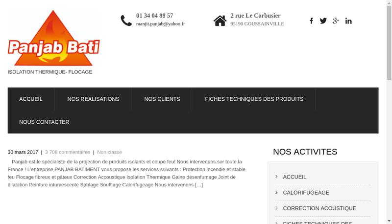 Capture d'écran du site de Panjab Bati