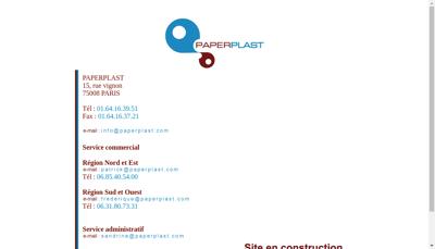 Capture d'écran du site de Paperplast SAS