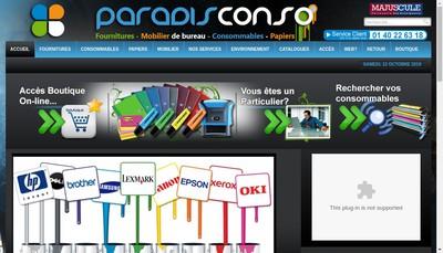 Site internet de Paradis Conso Sarl
