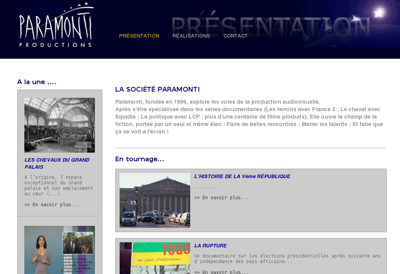 Capture d'écran du site de Paramonti