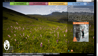 Capture d'écran du site de Ctre Perman Initiation Environ Vercors