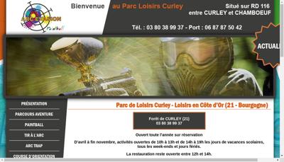 Capture d'écran du site de Arc Evasion