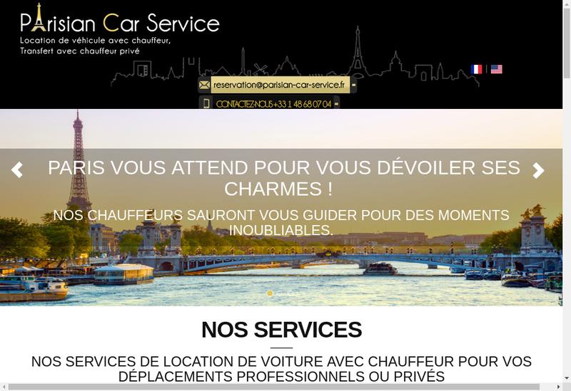 Capture d'écran du site de Parisian Car Service