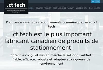 Capture d'écran du site de Parknet