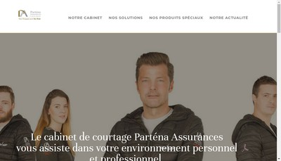Site internet de Partena Assurances
