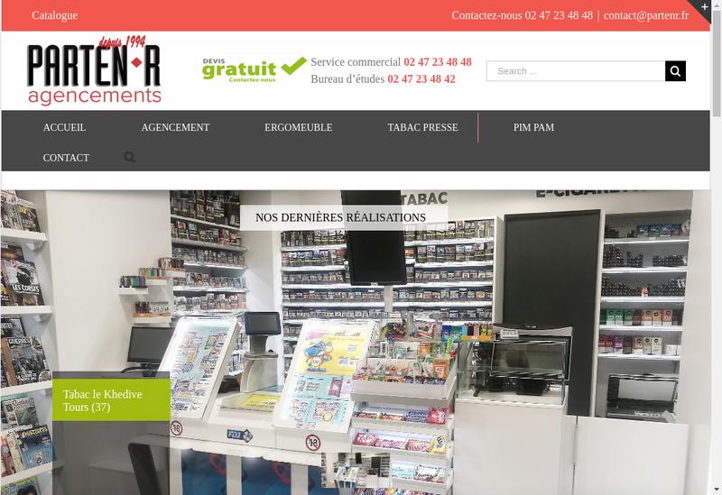 Capture d'écran du site de Parten R Agencements