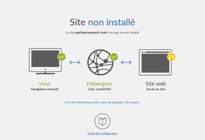 Capture d'écran du site de Partners Export
