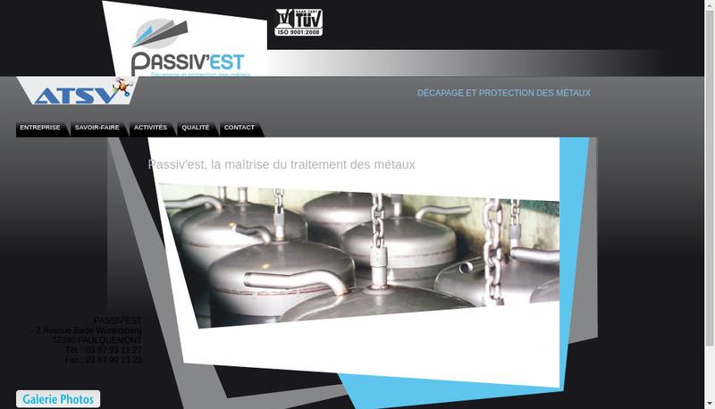 Capture d'écran du site de Passiv Est