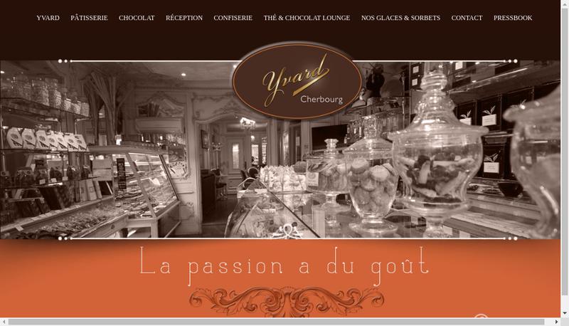 Capture d'écran du site de Patisserie Yvard SARL