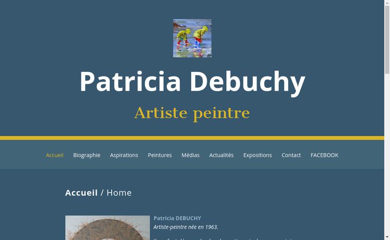 Capture d'écran du site de Patricia Debuchy