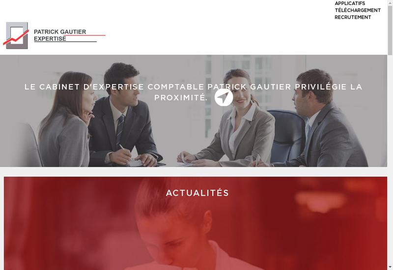 Capture d'écran du site de Patrick Gautier Expertise