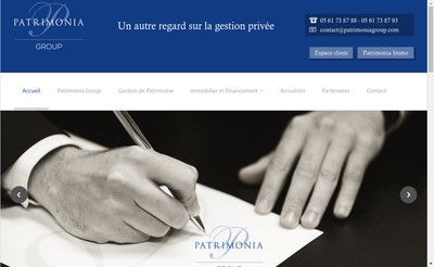 Site internet de Patrimonia Invest