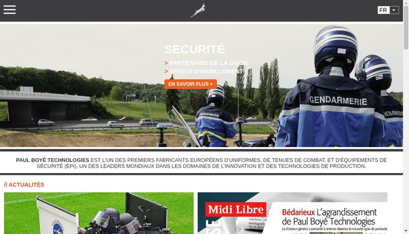 Capture d'écran du site de Paul Boye Technologies