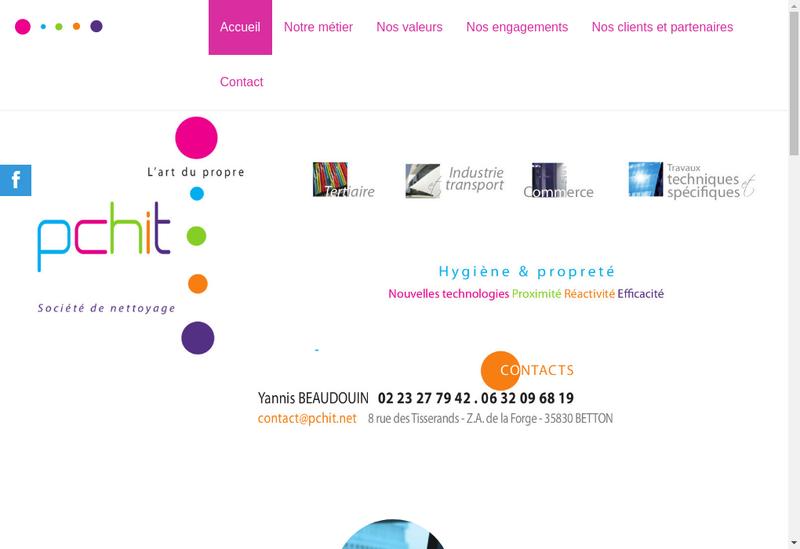 Capture d'écran du site de Pchit