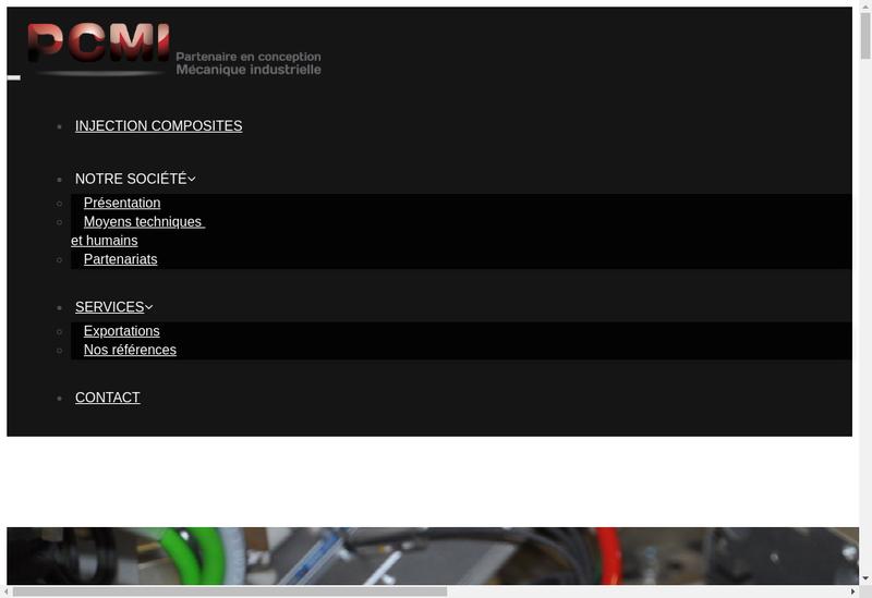Capture d'écran du site de Partenaire Concept Mecanique Ind Pcmi