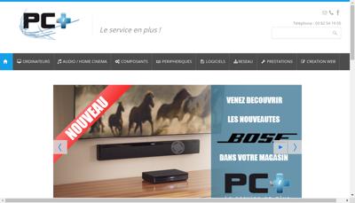 Capture d'écran du site de Pc Plus